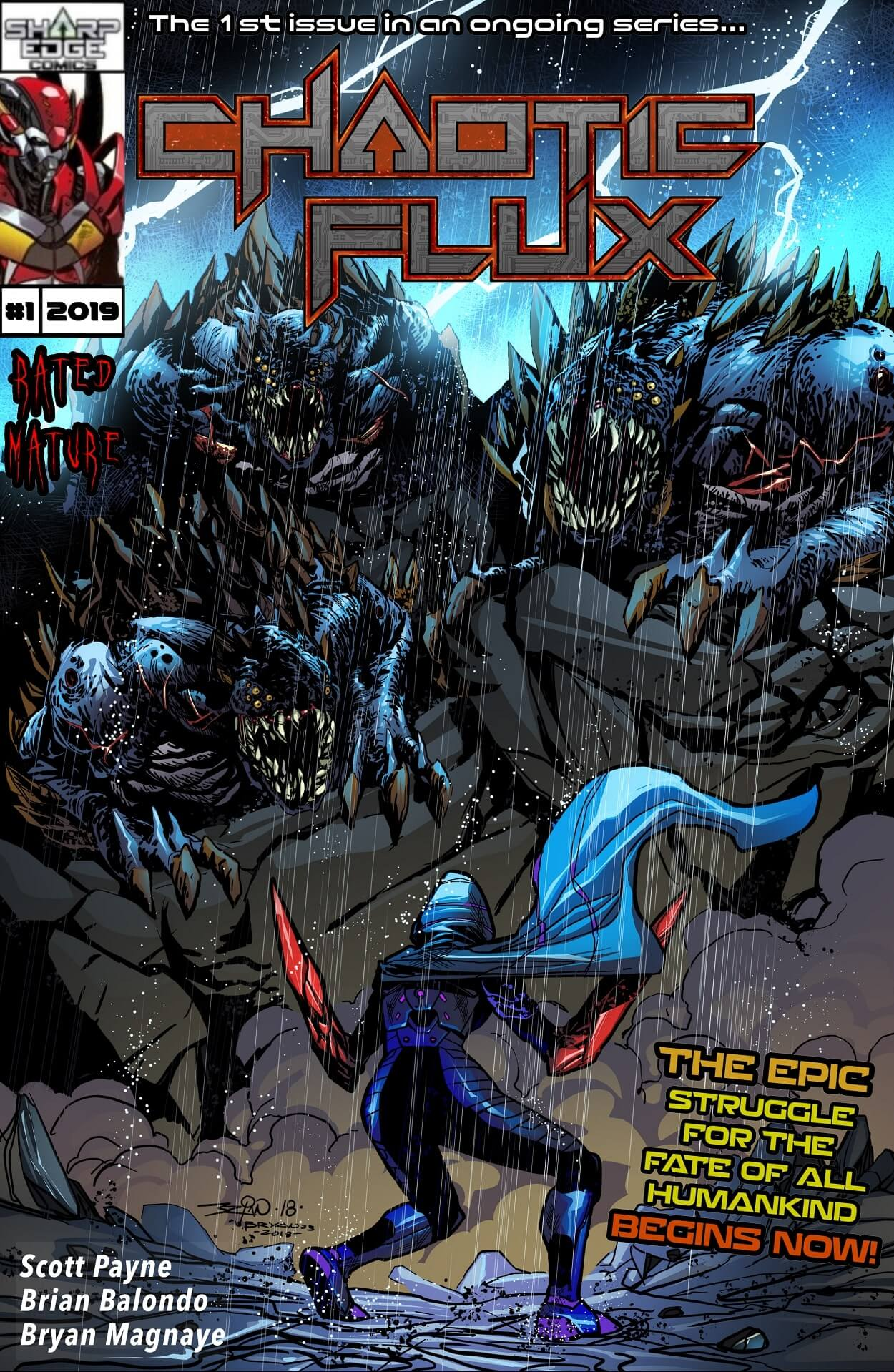 Chaotic Flux  issue 1: Aliens vs Monsters part 1