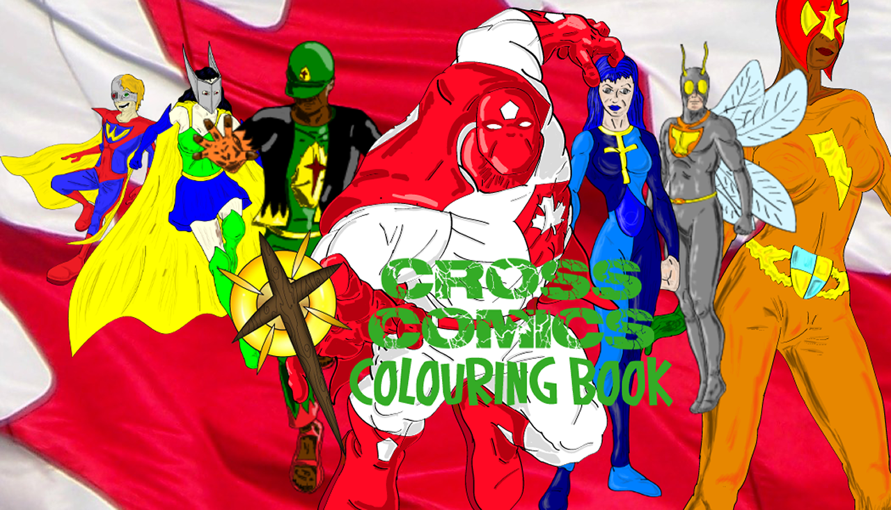 Cross Comics coloring book