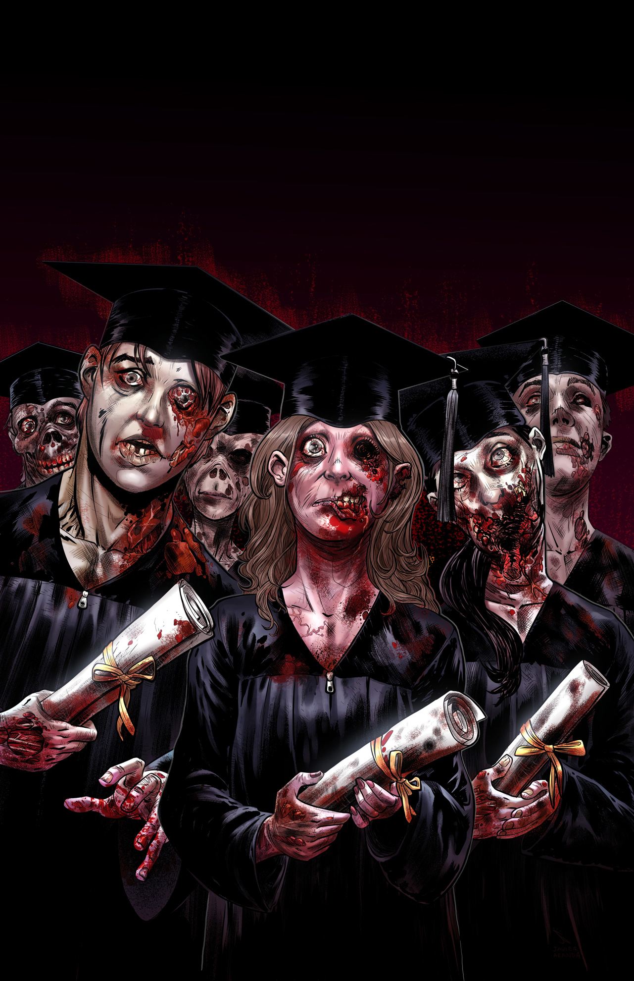 COLLEGE OF THE DEAD GRADUATION DAY COMIC BOOK
